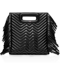 Maje - Quilted Fringe Leather Crossbody - Lyst