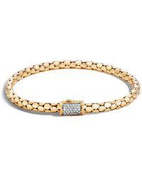 John Hardy Dot Diamond Chain Bracelet - Metallic