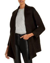 Theory Clairene Shawl Coat - Black