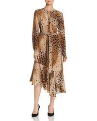 Lafayette 148 New York Delancy Cheetah-print Silk Dress - Brown