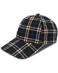 Gents - Executive Black Plaid Cap - Lyst