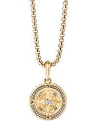 David Yurman 18k Yellow Gold Maritime Compass Amulet With Diamond - Metallic