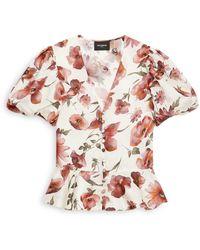 The Kooples Floral Print Blouse - Pink