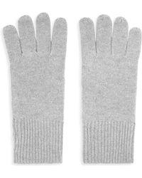 Reiss Emmerson Cashmere Gloves - Gray