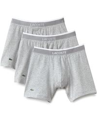 Lacoste - 3-pack Cotton Stretch Boxer Briefs - Lyst