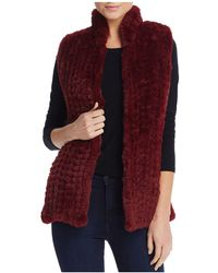 Aqua Faux Fur Vest - Red