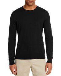 Bloomingdale's Cotton Blend Crewneck Jumper - Black
