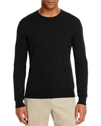 Bloomingdale's Cotton Blend Crewneck Sweater - Black