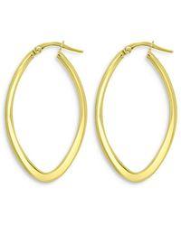 Bloomingdale's Oval Hoop Earrings In 14k Yellow Gold - Metallic