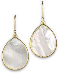 Ippolita - 18k Gold Polished Rock Candy Teardrop Earrings In Mother - Of - Pearl - Lyst