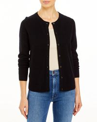 C By Bloomingdale's Crewneck Cashmere Cardigan - Black