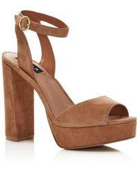 Aqua Women's Mardi High - Heel Platform Sandals - Multicolour