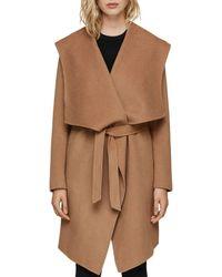 SOIA & KYO - Exaggerated Shawl Collar Coat - Lyst