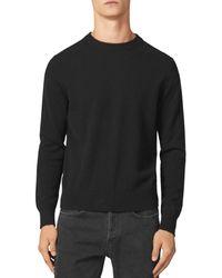 Sandro Cashmere Double - Thread Crewneck Sweater - Black