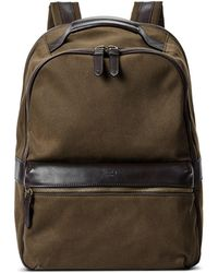 Shinola - Runwell Leather Trimmed Canvas Backpack - Lyst