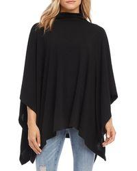 Karen Kane Funnel - Neck Poncho Sweater - Black