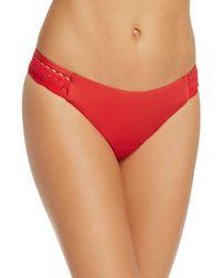Laundry by Shelli Segal Crochet Hipster Bikini Bottom - Red