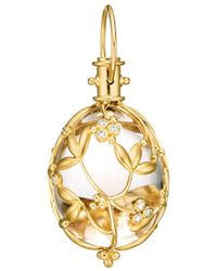 Temple St. Clair - 18k Yellow Gold Vine Amulet With Rock Crystal & Diamond - Lyst