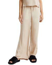 Bella Dahl Wide Leg Drawstring Pants - Natural