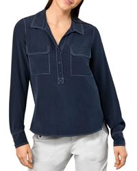 Go> By Go Silk - Point Out The Details Silk Blouse - Lyst