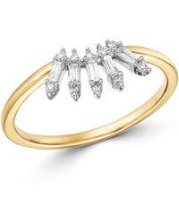Adina Reyter Diamond Stick Ring In 14k Gold - Metallic