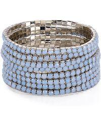 Aqua - Stretch Bracelets - Lyst