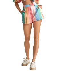 Billabong X Sincerely Jules Hard To Tell Striped Shorts - Multicolor