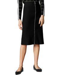 Karen Millen - Zip - Front Midi Skirt - Lyst