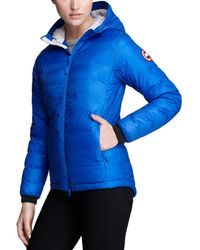 Canada Goose - Down Coat - Pbi Camp Hooded Lightweight - Lyst