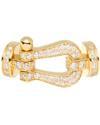 Fred - 18k Yellow Gold Force 10 Diamond Large Buckle - Lyst