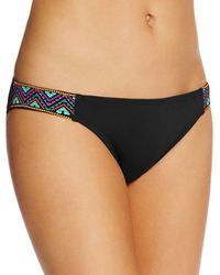 Laundry by Shelli Segal - Embroidered Wrap Bikini Top - Lyst