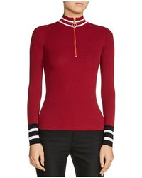 Maje - Minaudier Zip-neck Sweater - Lyst