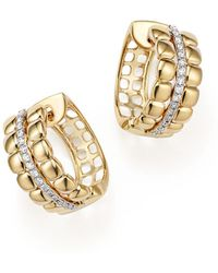 Bloomingdale's - Diamond Hoop Earrings In 14k Yellow Gold, .20 Ct. T.w. - Lyst