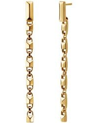 Michael Kors Precious Metal-plated Sterling Silver Mercer Link Linear Earrings - Metallic