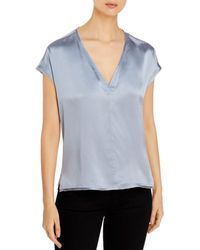 Go> By Go Silk Raw - Edged Silk Tee - Blue