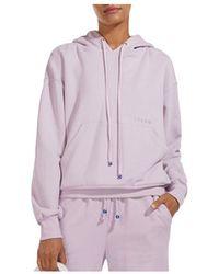 STAUD Hooded Pullover Sweatshirt - Purple