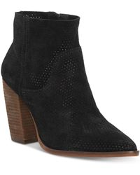 Vince Camuto Cava Perforated Pointy Toe Boot - Black