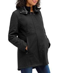 Nom Maternity 3 - In - 1 Coat - Black