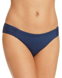 Becca - Color Code Shirred Tab Bikini Bottom - Lyst