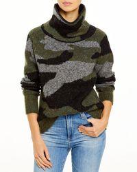 Aqua Knit Turtleneck Jumper - Green