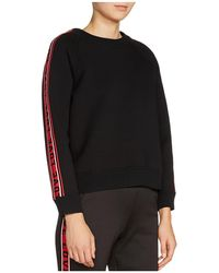 "Maje - Toska ""love"" Striped-sleeve Sweatshirt - Lyst"