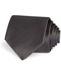 Bloomingdale's Basic Textured Solid Classic Tie - Black