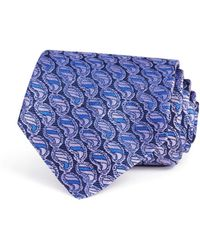 Turnbull & Asser - Striped Paisley Classic Tie - Lyst