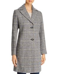 T Tahari Glen Plaid Coat - Multicolour
