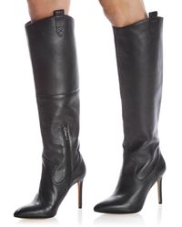 Vince Camuto Kervana Pointed Toe High Heel Dress Boots - Black