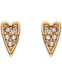 Karl Lagerfeld - Mini Rocky Heart Stud Earrings - Lyst