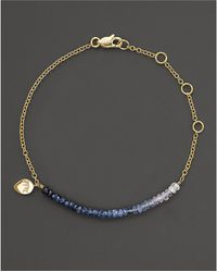 Meira T | Blue Sapphire And 14k Yellow Gold Bracelet | Lyst