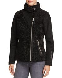 Vince Camuto - Faux Shearling Bomber Jacket - Lyst