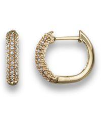 Bloomingdale's Diamond Hoop Earrings In 14k Yellow Gold - Metallic
