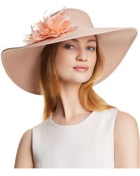 August Hat Company - Dress Me Up Feather-trim Floppy Hat - Lyst